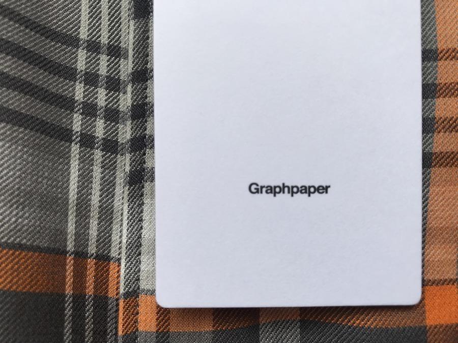 「ドメスティックブランドのGraphpaper 」