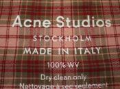 【Acne studios】チェック大判ストール入荷です