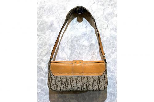 クリスチャン ディオールのロゴプレートトロッターハンドバッグ