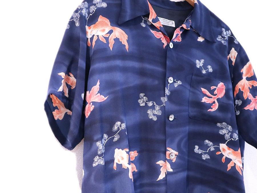 チソウのシルクアロハシャツ