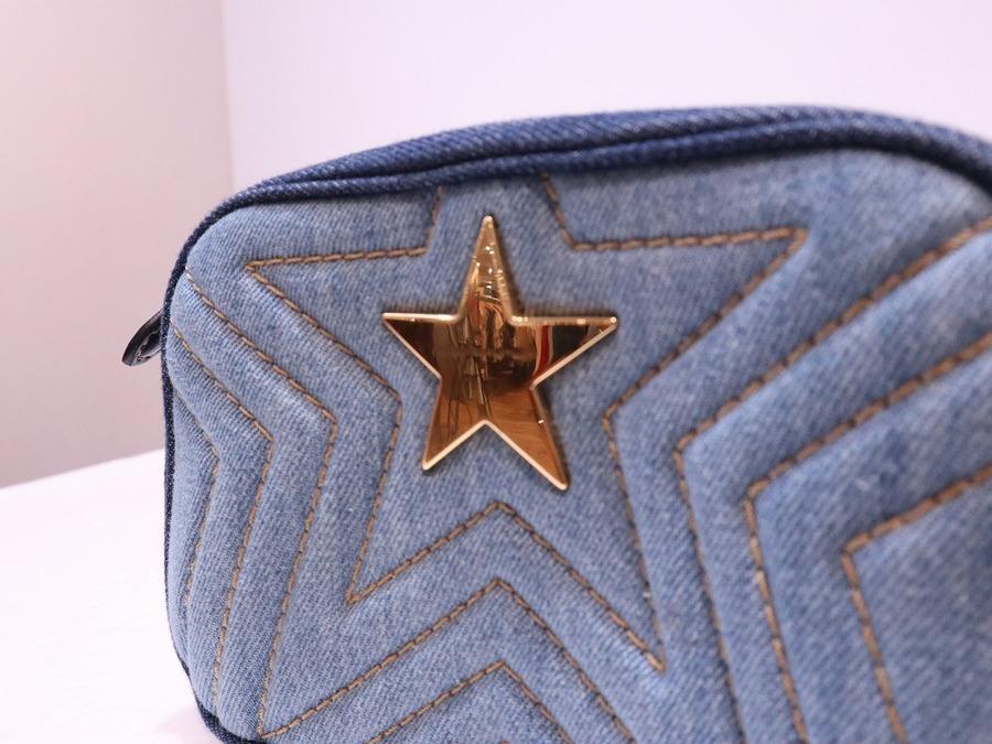 ステラマッカートニーのスターチェーンデニムショルダーバッグ