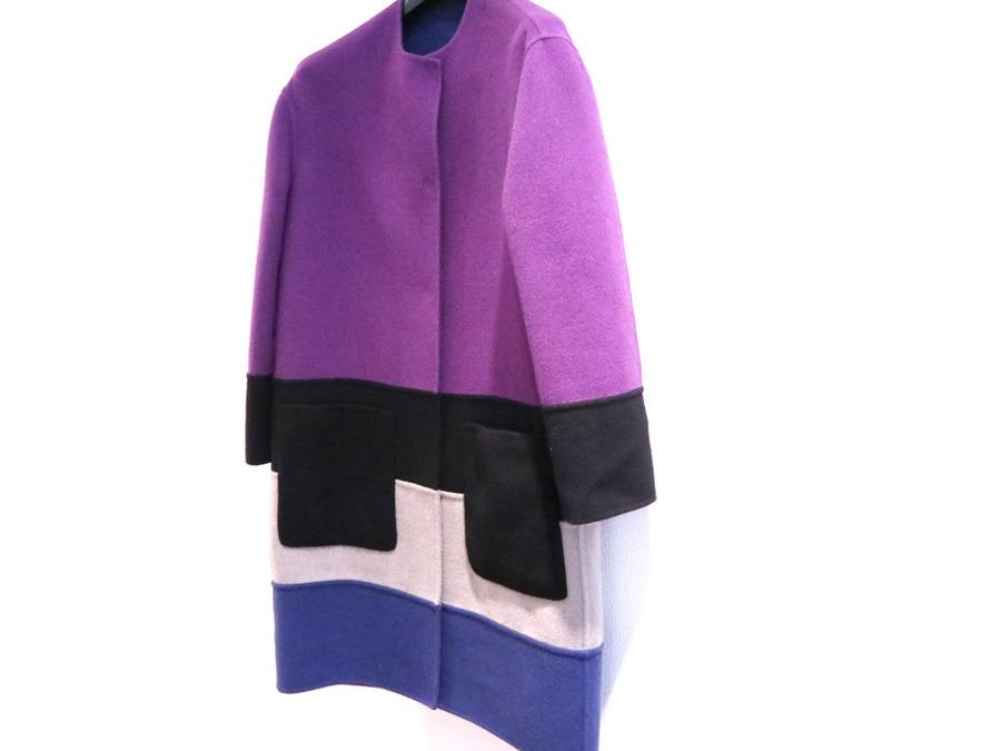 ボッテガベネタのモナリザ マルチカラー カシミア コート