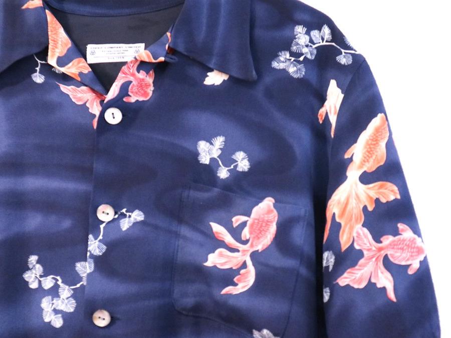京友禅着物の老舗屋、CHISO(千總)のシルク使用アロハシャツ入荷しました。