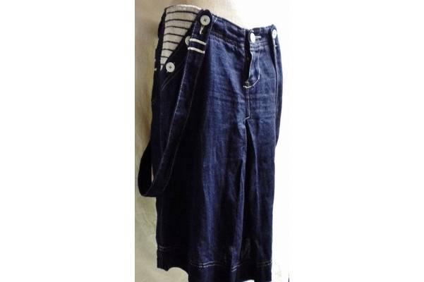 アメカジ古着感覚のMADE IN JAPAN。ジーン・ナッソーズ(Jean Nassaus)のサスペンダー藍染リネンスカート買取いたしました。