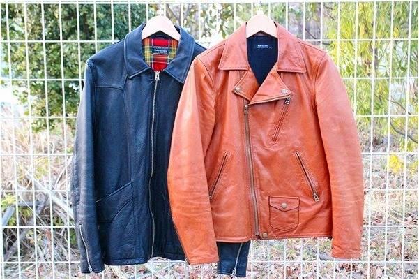 『BLACK』&『BROWN』洗練されたレザージャケット