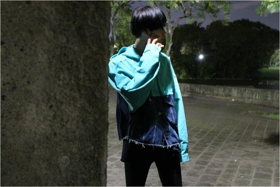 ダブレットのシルクダックデニムジャケット