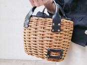 eb.a.gos【エバゴス】紅籐とブライドルレザー使いの贅沢カゴバッグ入荷致しました・・・!