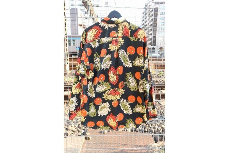 コムデギャルソンシャツのシルク総柄シャツ