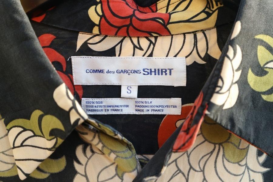 シルク総柄シャツのメンズ