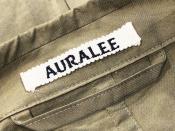 AURALEE(オーラリー)からFINX SILK CHAMBRAY