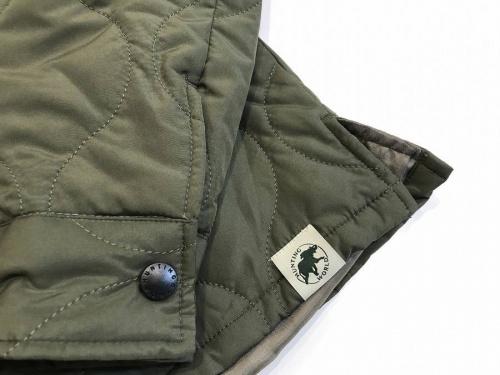 ハンティングワールドのキルティングジャケット