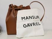MANSUR GAVRILE(マンサー ガブリエル)レザー巾着型バッグ入荷致しました。