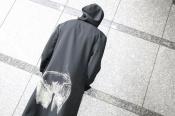 YOHJI YAMAMOTOのシワギャバお尻抜染フードジャケットが入荷しました