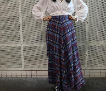 「キャリアファッションの23区 LIBECO HERRINGBONE PLAID 」