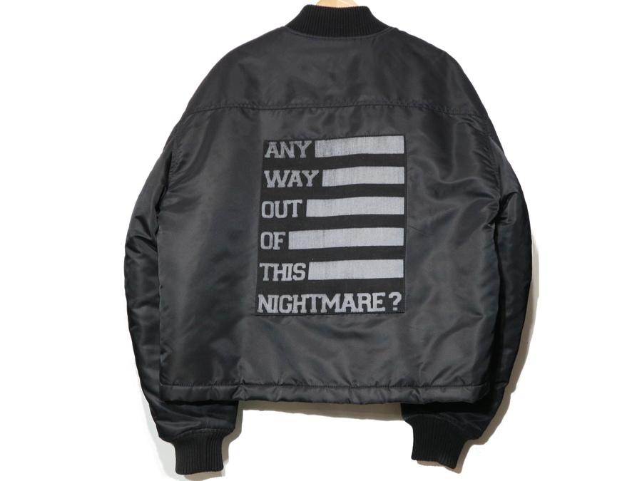 ラフシモンズのFlight Short Black Bomber Nylon Jacket
