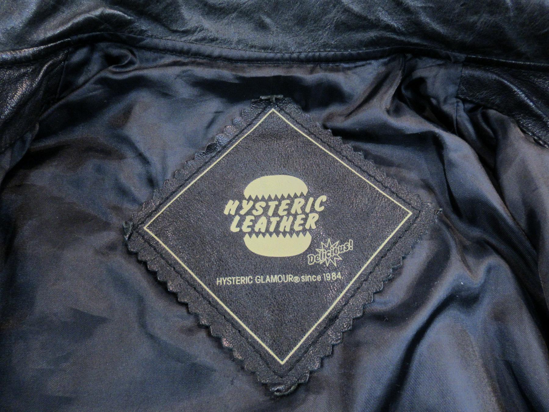 HYSTERIC GLAMOURのシンプルレザージャケット入荷!