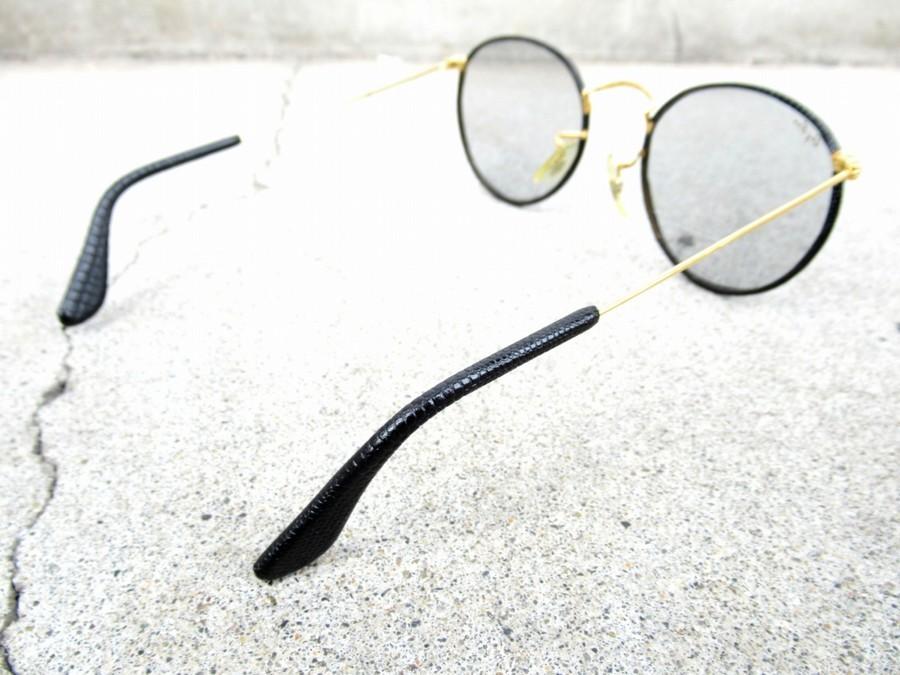 レイバンのレザーパイピングサングラス