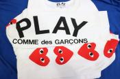 【PLAY COMME des GARCONS/プレイコムデギャルソン】のカットソー が入荷致しました!!