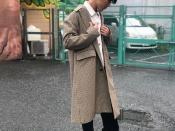 【FACTOTUM / ファクトタム】オーバーチェックステンカラーコートを入荷致しました!