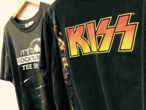 バンドTシャツのリメイク