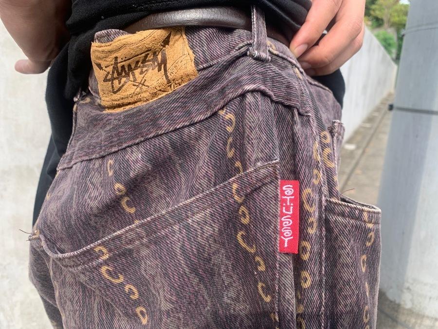 総柄パンツ オールドステューシー old stussy スケーターファッションのメンズ