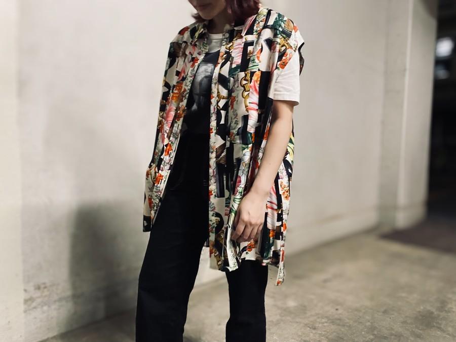 Archive Scarf Print Silk Sleeveless Shirtの8001427