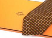 HERMES/エルメスよりロゴ刺繍ネクタイ入荷しました