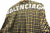 "BALENCIAGA""バレンシアガ""バックロゴボウタイチェックシャツ入荷しました"