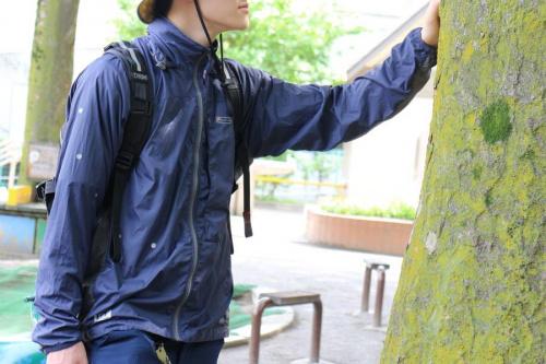 梅雨のマウンテンジャケット