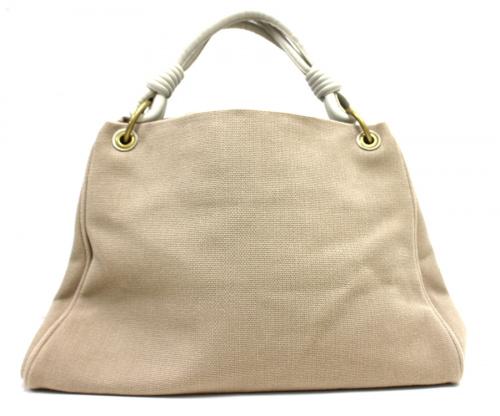 ボッテガベネタのキャンバスハンドバッグ