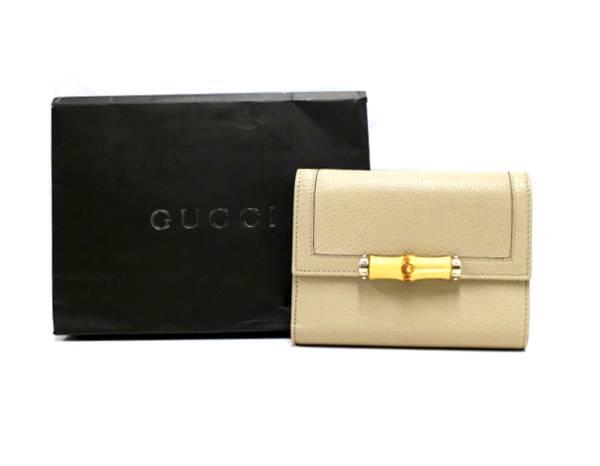 GUCCI/グッチのアイコン「バンブー」を使用した財布のご紹介。