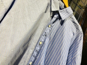 DRESSEDUNDRESSED PINSTRIPE COLOR BLOCK SHIRT 17SS入荷致しました。
