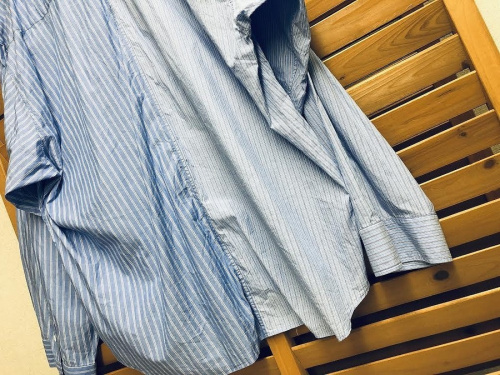 PINSTRIPE COLOR BLOCK SHIRTのメンズ