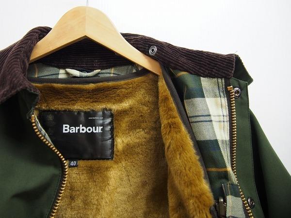 バブアーのライナー付ジャケット