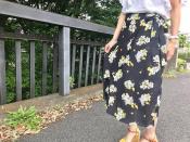 この夏大注目!Rika(リカ)花柄ラップスカート未使用品での入荷...