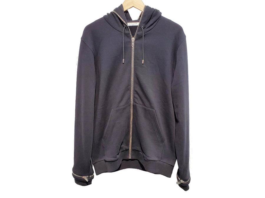 ジバンシーのZip-detail cotton-jersey hoody