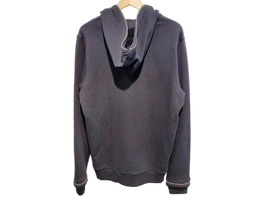 Zip-detail cotton-jersey hoodyのコットンジャージーフーディ