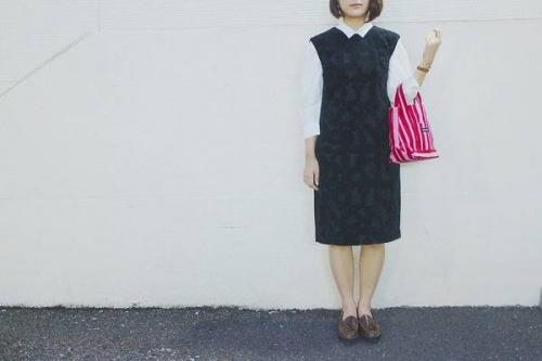 ミナペルホネンのleafドレス