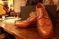 「RRL ダブルアールエル ウイングチップシューズ レザーシューズのRRL 靴 」