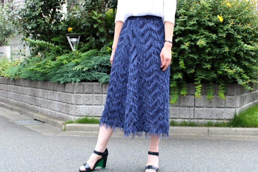 ELEMDEEK / エレンディークのカッティングフリンジスカートのご紹介。