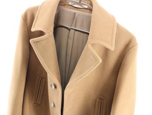 セレクトブランド 古着 コートのノーカラーコート ウールコート