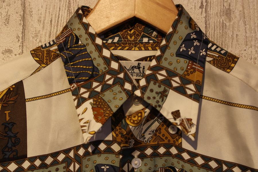エルメスのシルクシャツ