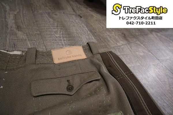 日本の新鋭ブランドkeisuke kandaから手縫いパッチワークパンツが入荷致しました!