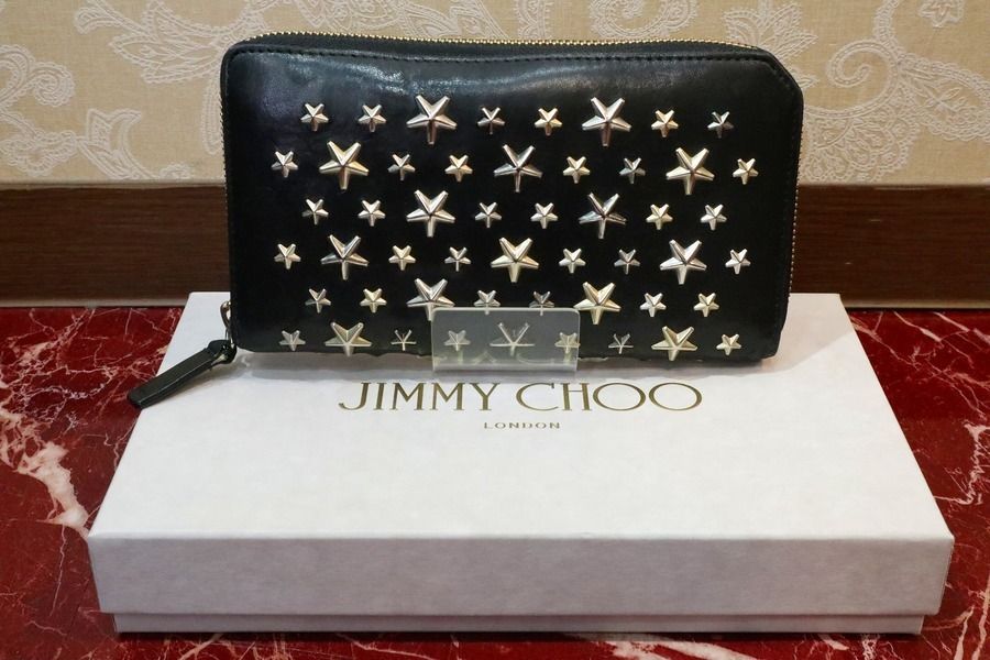 【JIMMY CHOO スタースタッズラウンドファスナー長財布】が入荷致しました!!
