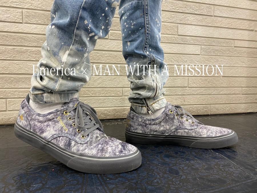 「スニーカーのEmerica × MAN WITH A MISSION 」