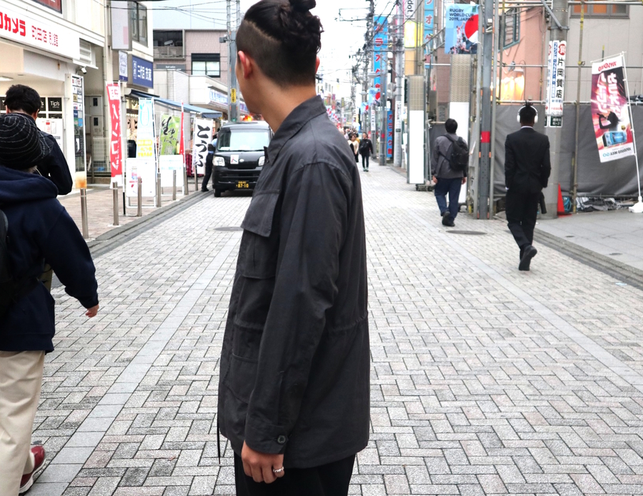 オーラリーのWASHED FINX RIPSTOP FATIGUE JACKET