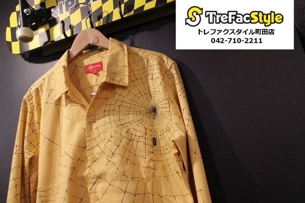 Supreme 16AWより黄色いスパイダーマンになれるシャツ入荷!!!【古着買取トレファクスタイル町田店】