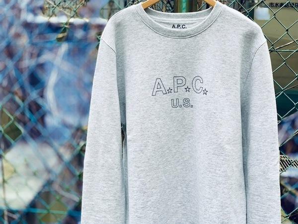 "A.P.C(アーペーセー)より""SWEAT US STAR""入荷しました!!"