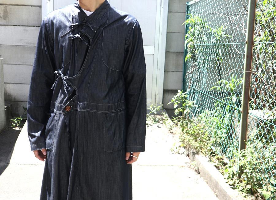 Robes&Confections/別注シルクデニムレースアップコート入荷!!