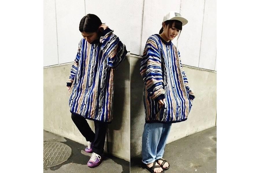 COOGI/クージーのセーターもビッグサイズで。